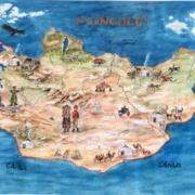 """Landkarte zum Spiel """"Steppenkind"""""""