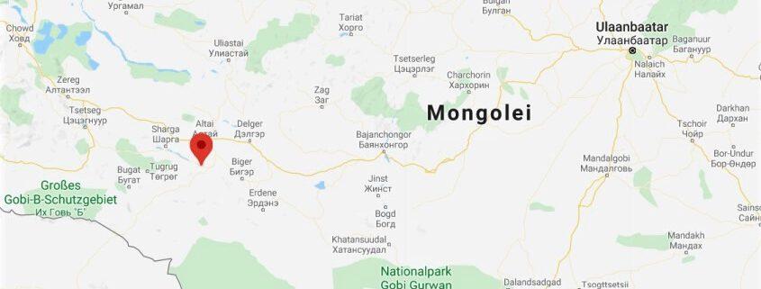 Kartenausschnitt - Mongolei