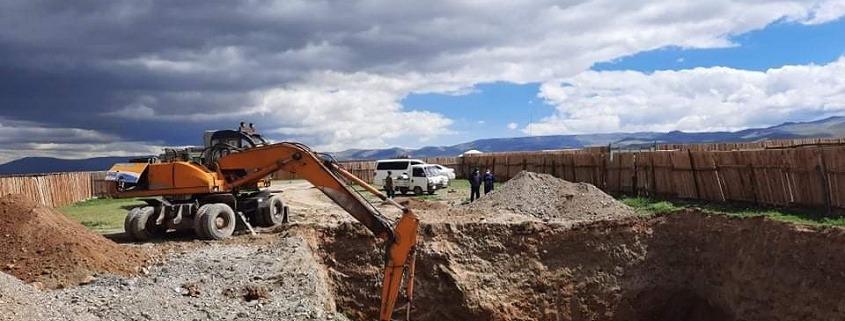 Erdarbeiten zum Kellerlagerhaus-Bau